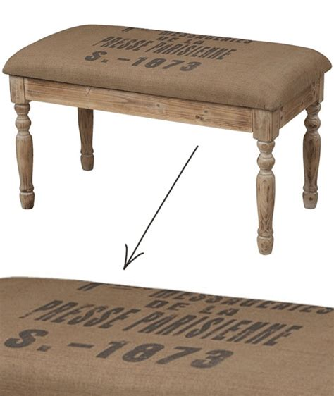 homesense benches 17 best images about burlap bench on pinterest words