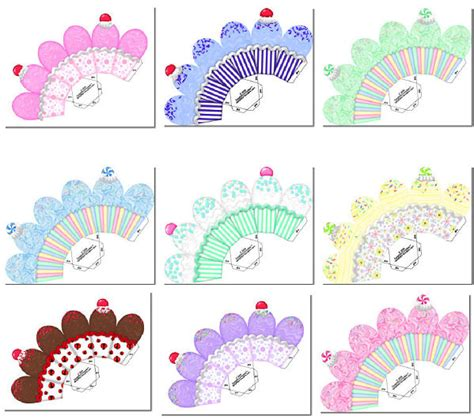 free cupcake box template cup cake boxes 8 99 delightful doodles designs baby