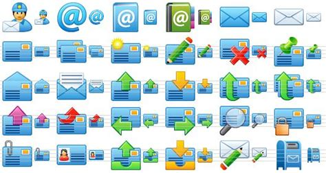 Mail Forwarding Address Lookup Small Email Icons Toolbar And Menu Icon Set For E Mail Soft