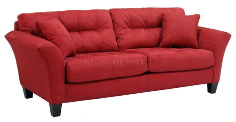 loveseat modern red tufted fabric modern sofa loveseat set w wood legs