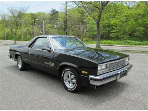 black el camino 1987 chevrolet el camino v8 350 black clean sharp