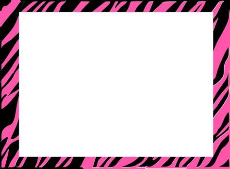 pink and zebra print border free wallpaper free zebra print border clipart best