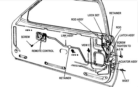 1990 ford mustang gt the 2 electric door lock solenoids a diagram