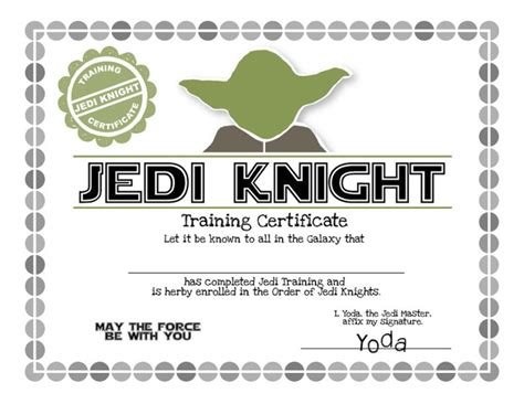 wars jedi certificate template free wars birthday ideas invitation