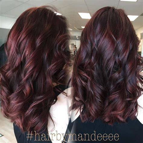 steps to doing burgundy hair with brown and caramel highlights 3986 best images about hair i like on pinterest guy tang