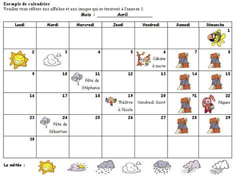 Calendrier Enfant Prmaternelle Programme D Tudes Coles Fransaskoises
