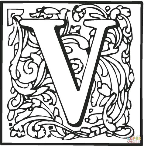letter v coloring page free printable coloring pages