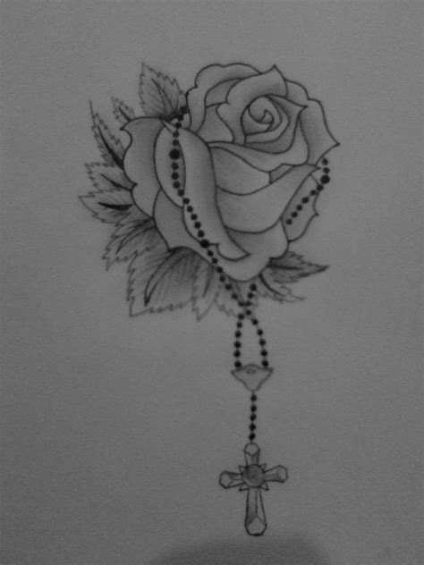 rose with rosary tattoo designs rosary with tattoos cross