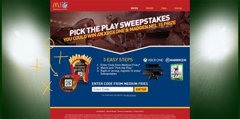 Mcdonalds Sweepstakes - mcdonald s pick the play sweepstakes at mcdpicktheplay com win a trip to super