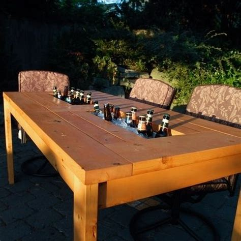 Patio Cooler Table Custom Patio Table With Built In Cooler By Backyard Escape Furniture Custommade