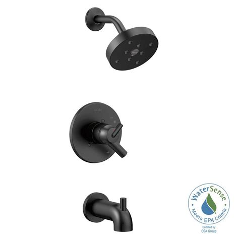 Delt Faucets Delta Trinsic 1 Handle Wall Mount Tub And Shower Trim Kit