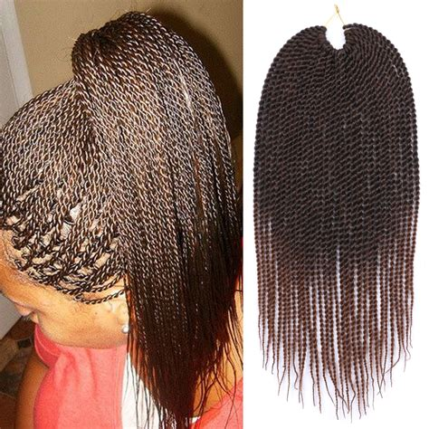 braided hair pack ombre brown braiding hair 18 quot 30roots pack senegalese