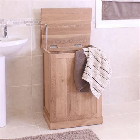 Store Solid Oak Laundry Bin Mobel Oak Laundry
