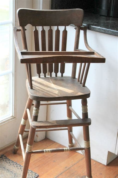 antique high chairs antique wooden high chair www pixshark images