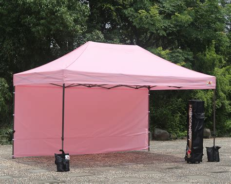 10 By 15 Gazebo Abccanopy 10x15 Deluxe Pink Pop Up Canopy Trade Show Both