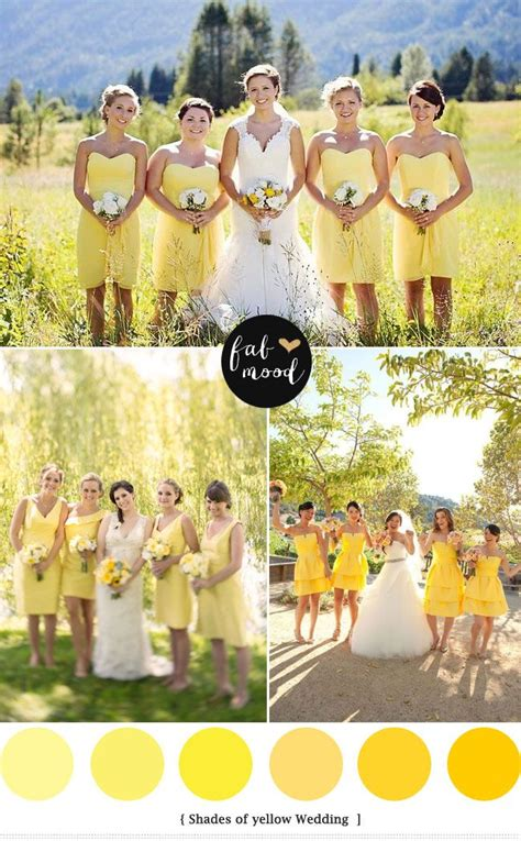 wedding colour themes meaning 107 best yellow weddings images on pinterest yellow