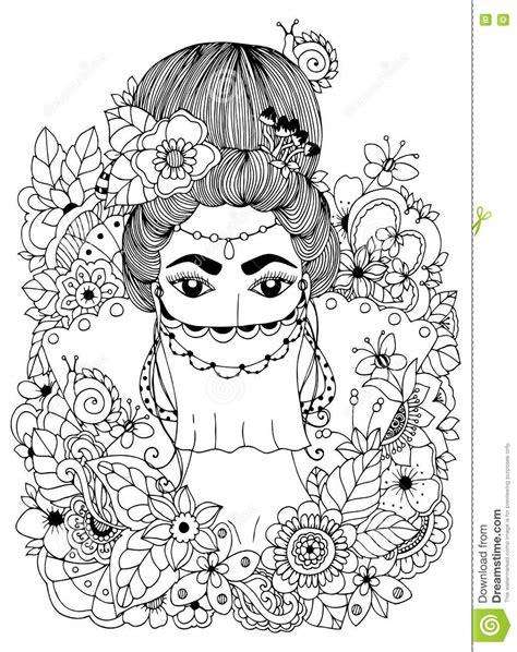 Dirigez Le Zentangl D'illustration, Princesse Orientale En