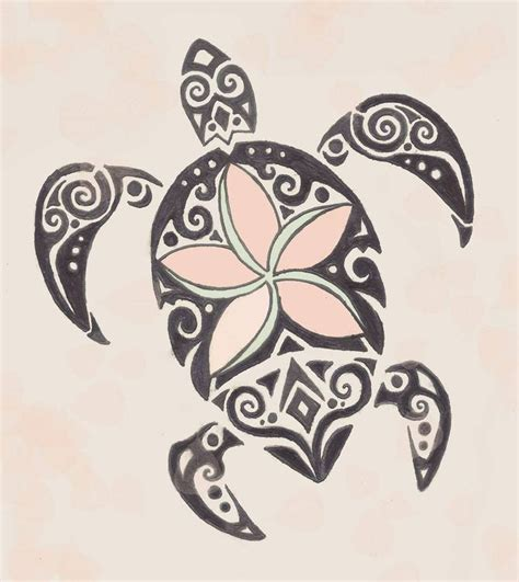 drawn tribal turtle tattoo to put on my calf mom daughter