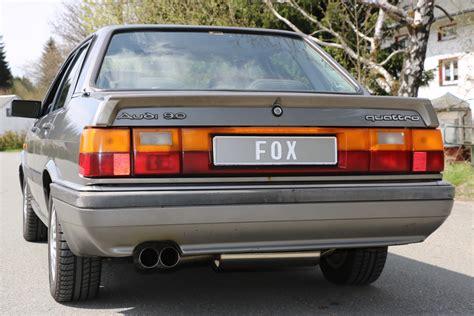 Audi 80 Sportauspuff by Fox Sportauspuff Audi 80 Typ 81 85 Quattro 2x76 Typ 10