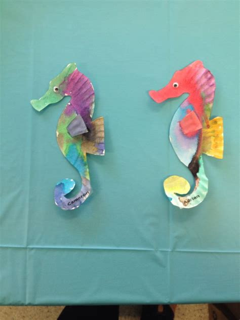 Seahorse Paper Plate Craft - seahorses made from paper plates sea in the gulf of