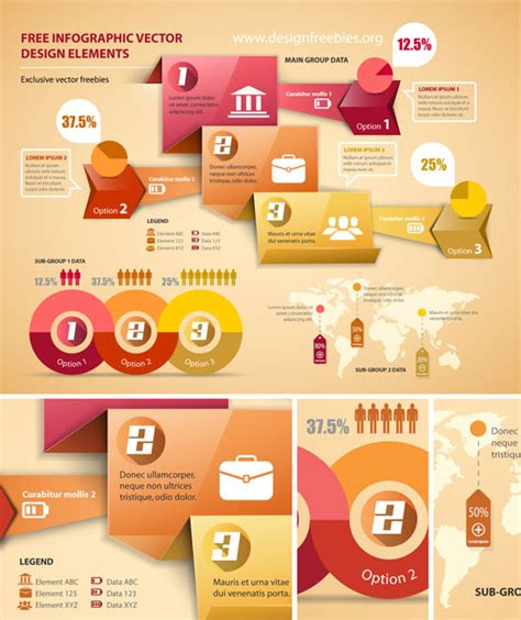 infographic design elements in vector free infographic vector design elements set 1