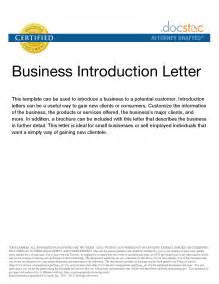 Introduction Letter Business Development Company Presentation Letter Exles Cover Letter Intro Sle Introduction For A New Cleaning