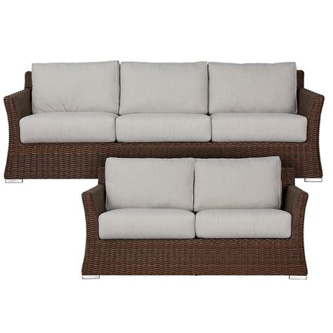 outdoor living room set southport gray woven outdoor living room set outdoor