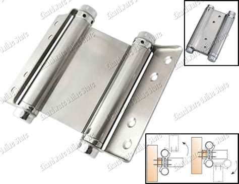 installing spring loaded cabinet hinges stainless steel double action spring hinges 100mm 4