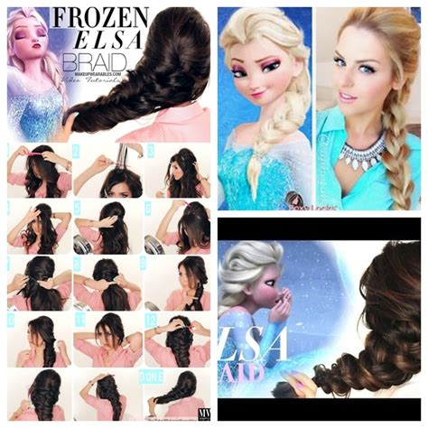 medium hair freeze style wonderful diy disney frozen elsa s hairstyle