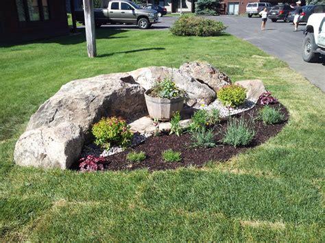 landscape beds rock flower bed