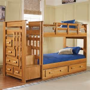 Guest Bed In False Chest Of Drawers Woodcrest Heartland Stairway Bunk Bed