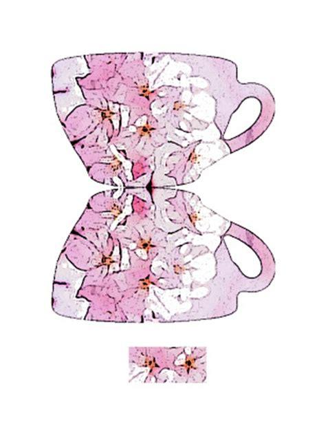teacup card template zakka paper craft teacup card