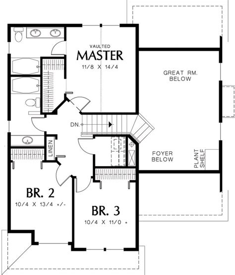 Cabin Floor Plan With Loft by Traditional Style House Plan 3 Beds 2 50 Baths 1500 Sq