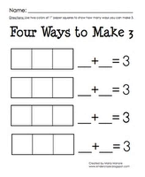 Decomposing Numbers Kindergarten Worksheets by 38 Best Images About Composing And Decomposing S On