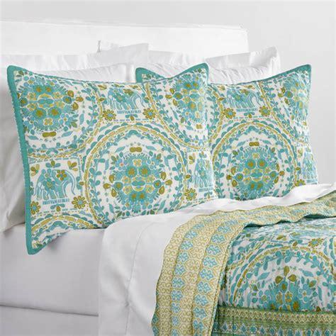 elephant print karima reversible quilt everything turquoise