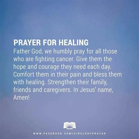 Prayer For Comfort And Healing by Prayer For Healing Prayers