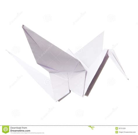 Origami Paper White - paper crane royalty free stock images image 30751529