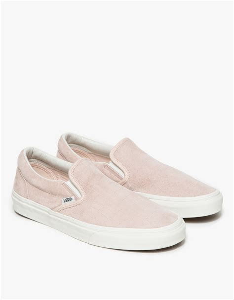 Slip On Shoes Pink vans classic slip on iced pink croc in pink lyst