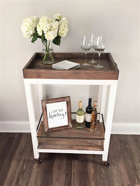 household diy projects for less than 50 diy bar cart how to build a bar cart for less than 50