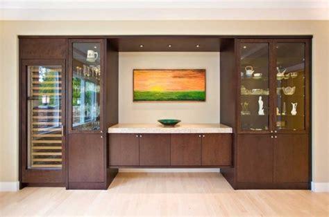 Modern crockery shelf in dining room