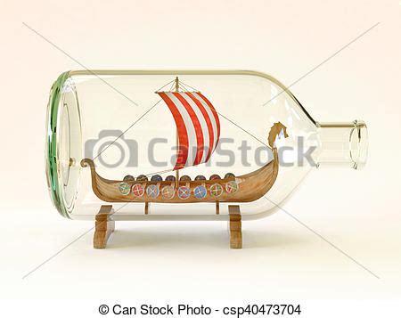dessin bateau bouteille viking verre bateau bouteille viking illustration