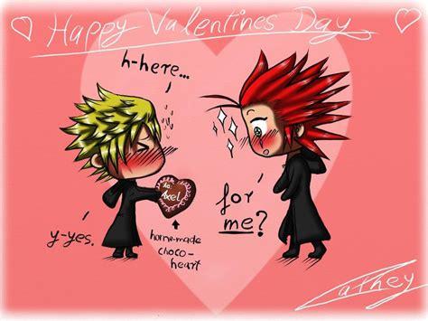 kingdom hearts valentines akuroku valentines day 2012 by cathey18 on deviantart