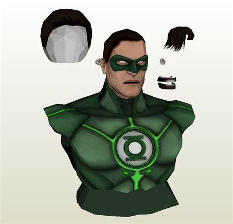 Green Lantern Papercraft - papercraft pdo file template for dc comics green