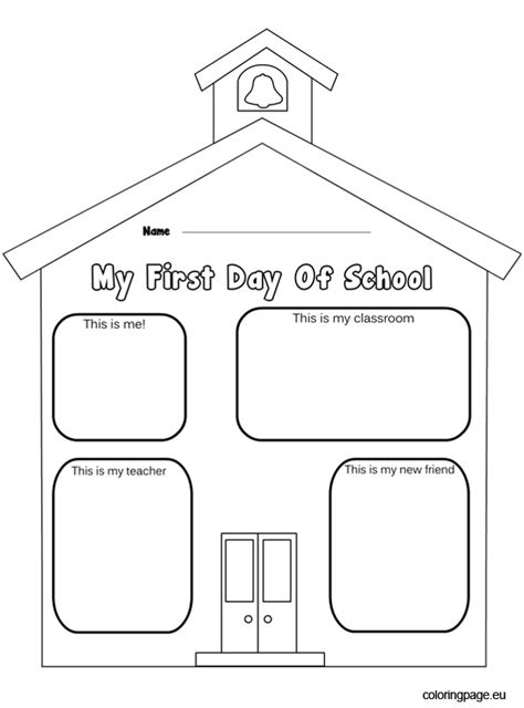 First Day Of Preschool Coloring Pages Chuckbutt Com Day Of Preschool Color Sheets