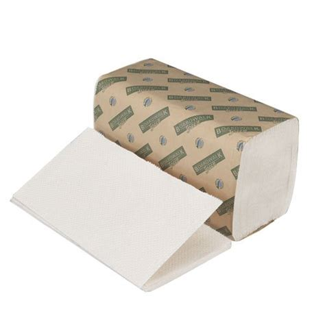 Single Fold Paper Towels - boardwalk 12green green seal certified white single fold