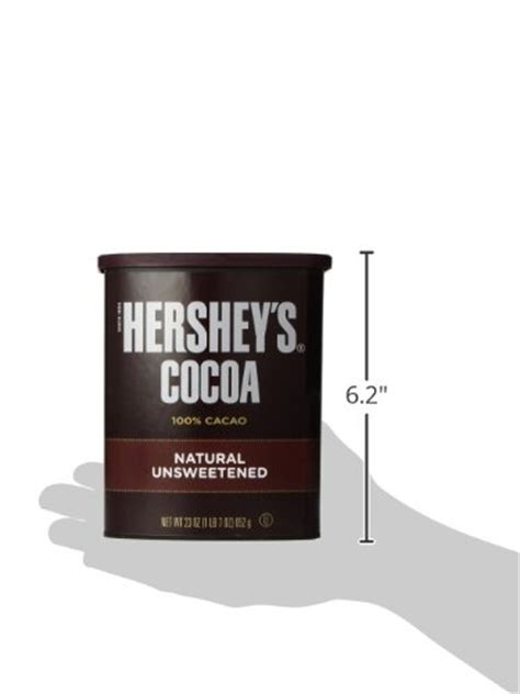 Hersheys 100 Cocoa Powder Unsweetened hershey s unsweetened cocoa can 100 cacao 23 ounce