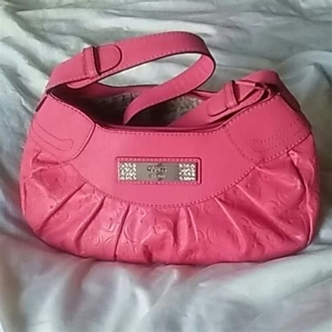 Guess Leather Pink guess guess pink leather purse with zipper euc from