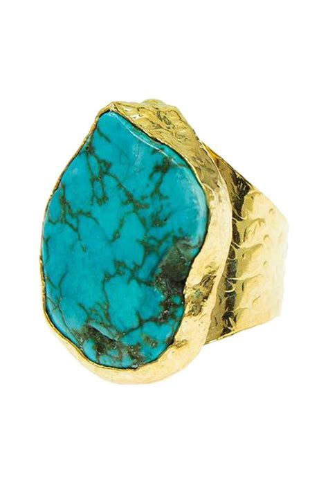 Bling Gold Pita turquoise cigar ring jewelry my style