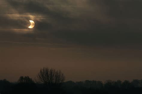 Landscape Photography During Solar Eclipse In Pictures Partial Solar Eclipse From Norfolk