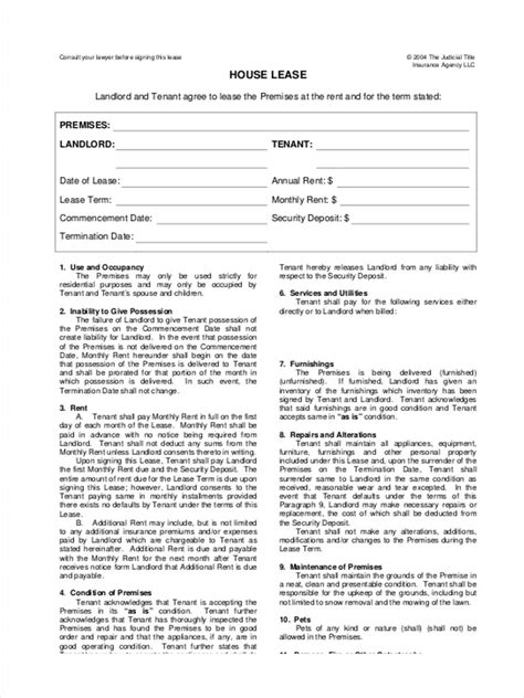 house lease agreement 34 lease forms in pdf